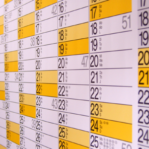 Calendar for Scheduling
