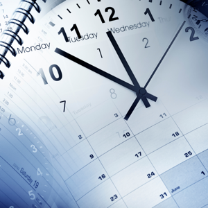 Clock faces, calendars and diary
