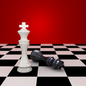 Chessboard with Checkmate Position