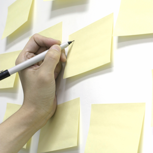 Post-It Note Work Breakdown Structure (WBS)