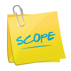 scope of project Project scope until scope is stable as changes are made in the project, be certain to update the scope statement and note the date and source of all changes.