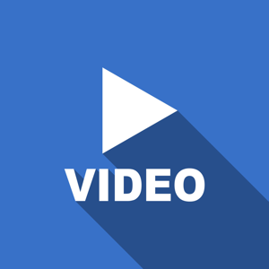 Blue video icon