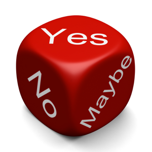 Dice with Yes, No, Maybe
